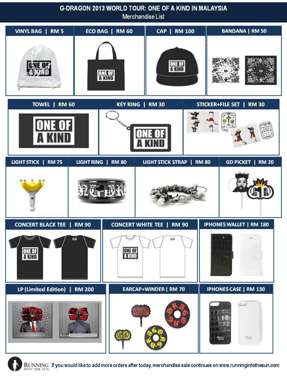 G Dragon merchandise