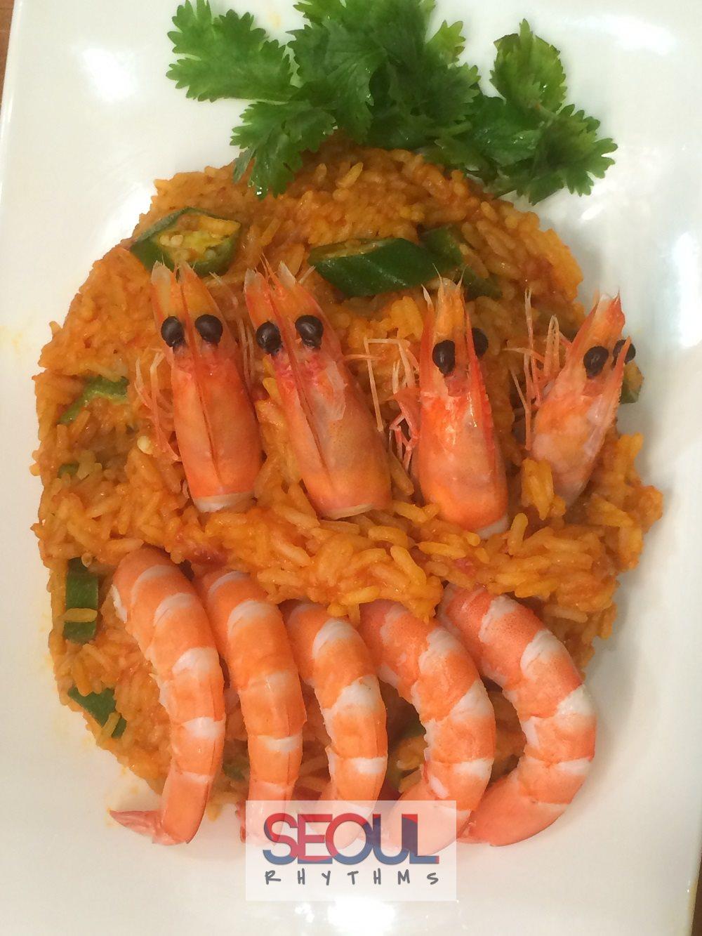 Todai, Birthday dishes, Jollof rice 1