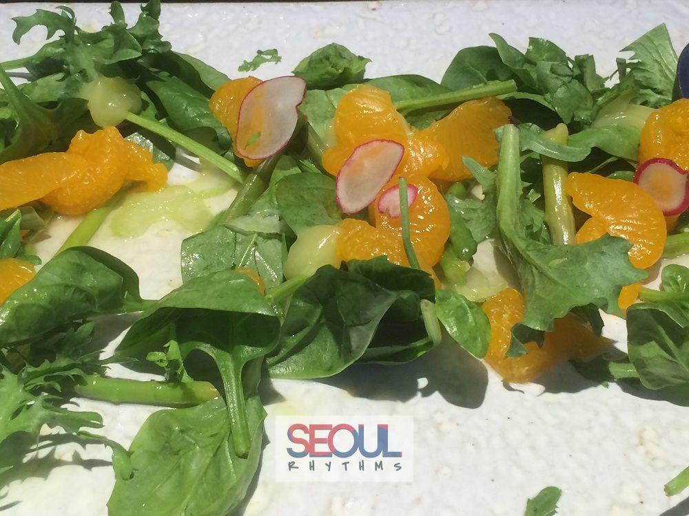 Todai, Birthday dishes, mandarin salad 2