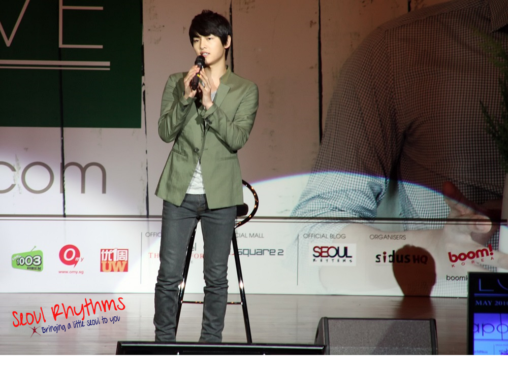 Song Joong Ki, Fan Meet 1a