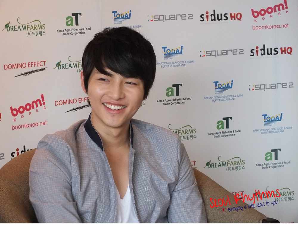 Song Joong Ki,Media Interview 2a