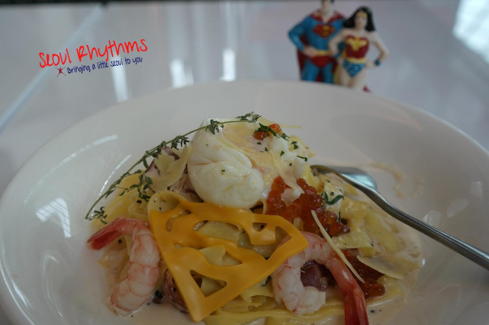 BVS Superman's Pasta Crevettes Carbonara