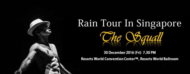 Rain will be staging his concert in Singapore after an absence of 5 years. The King of Korean pop music, Rain will be holding 'The Squall' in Singapore on 30 […]